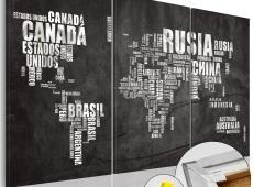 Kép parafán - El Mundo [Cork Map]